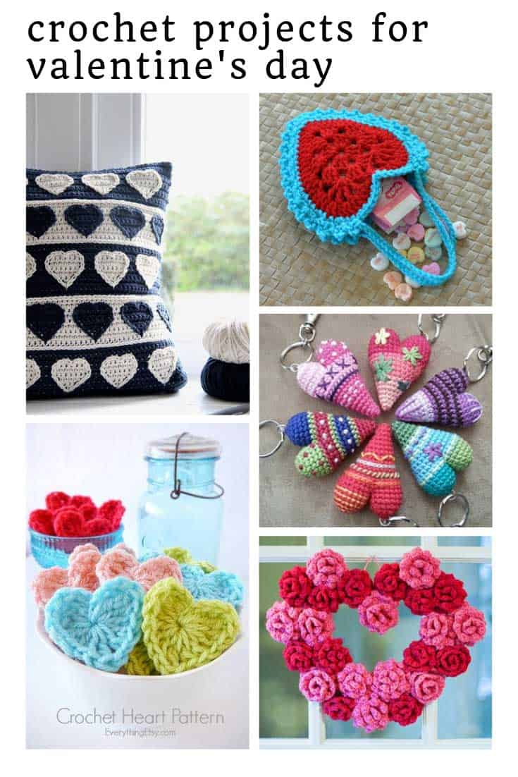 Loving these crochet projects for Valentine's Day - so many heart patterns!