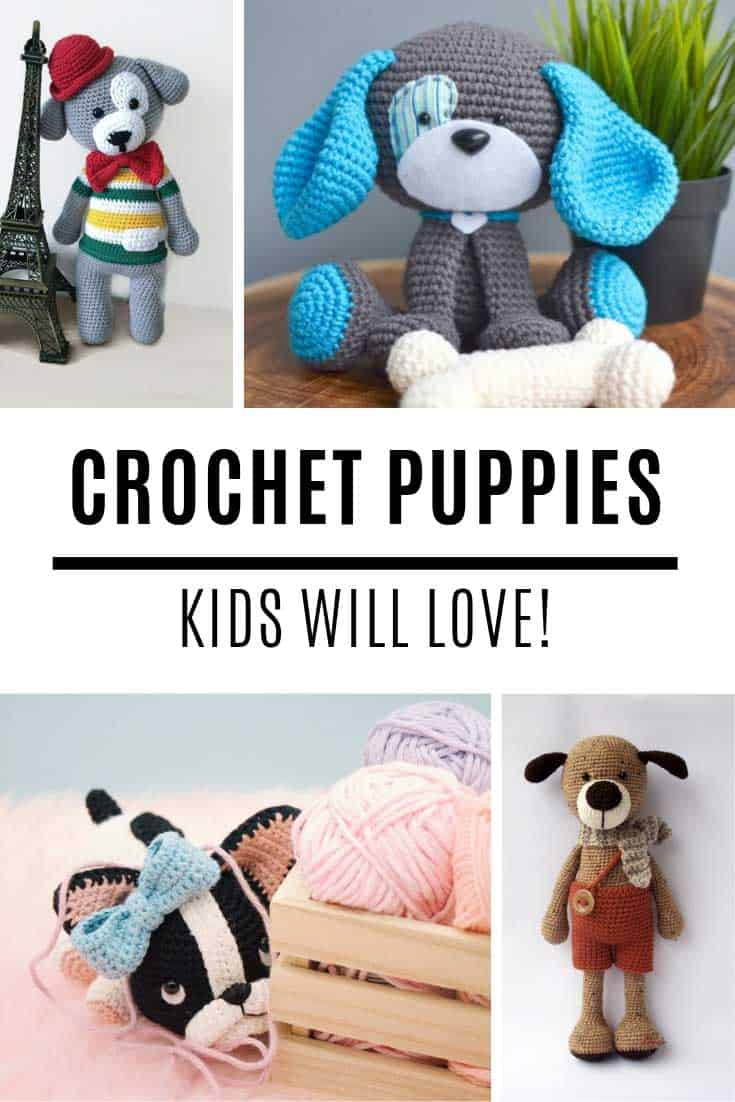 These puppy dog amigurumi patterns are the CUTEST!