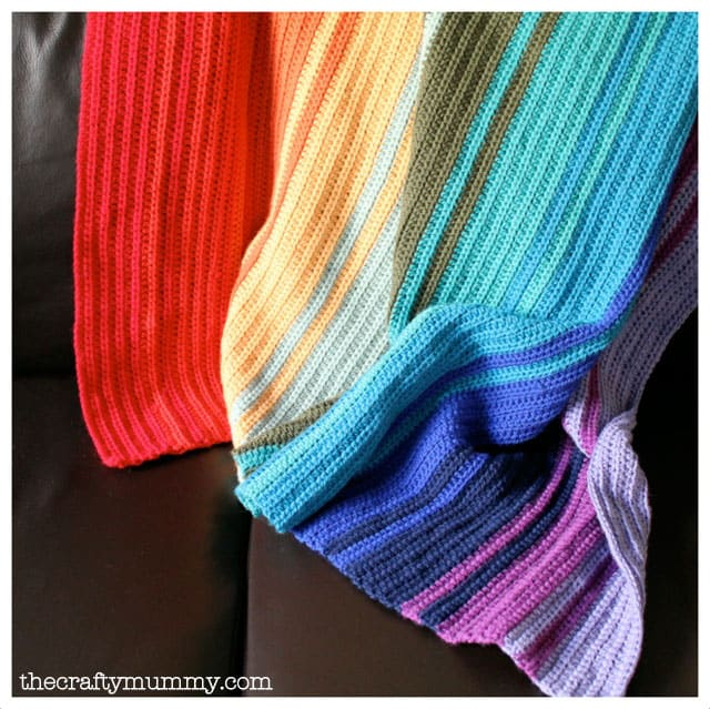 Crochet Rainbow Blanket Tutorial