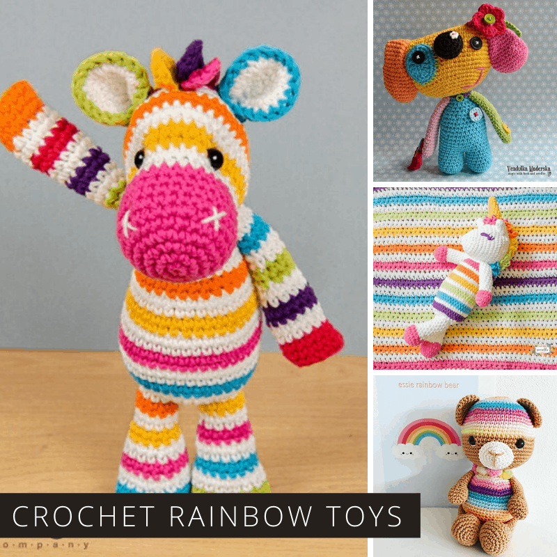All over the world people are displaying rainbows or stuffed toys in their windows, so here are some gorgeous rainbow toys for you to crochet!
