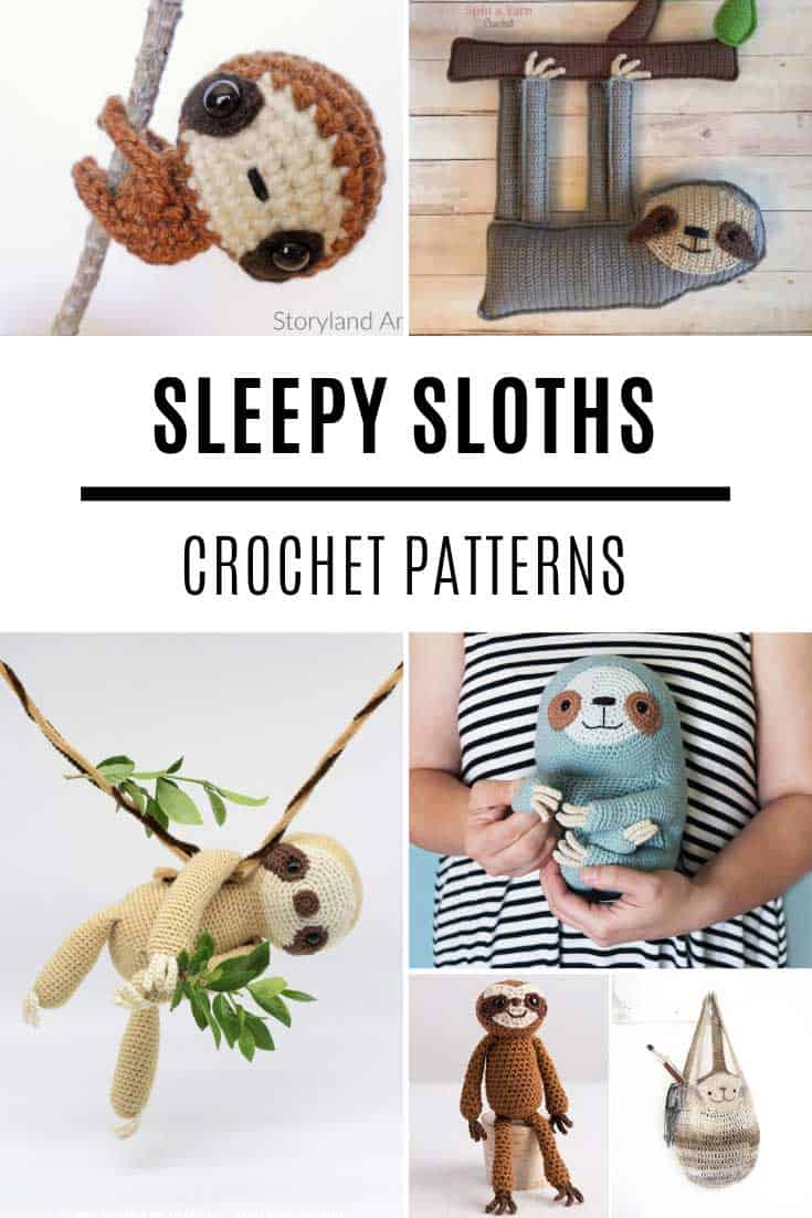 Ooh so many sleepy sloth crochet patterns to try!