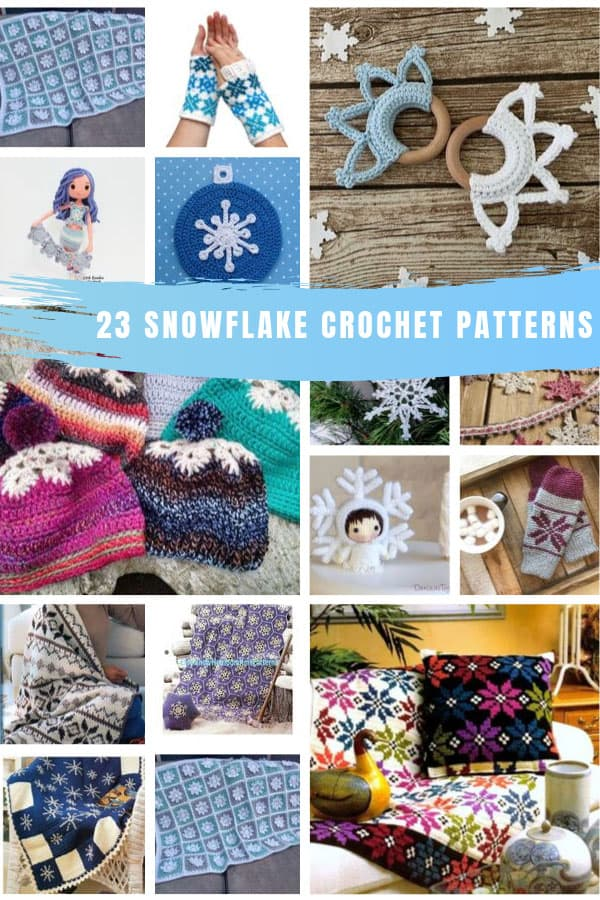 So many fabulous crochet snowflake patterns which make wonderful handmade gifts for friends and family #handmadegifts #gifts #crochet