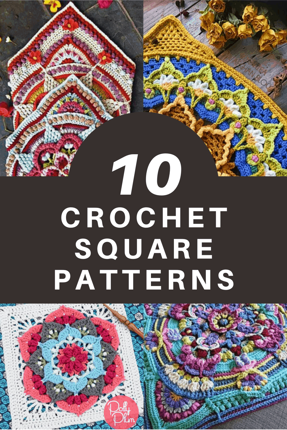 Challenge yourself with one of these crochet square patterns than can turn into stunning afghans or cushions that make thoughtful handmade gifts for loved ones!