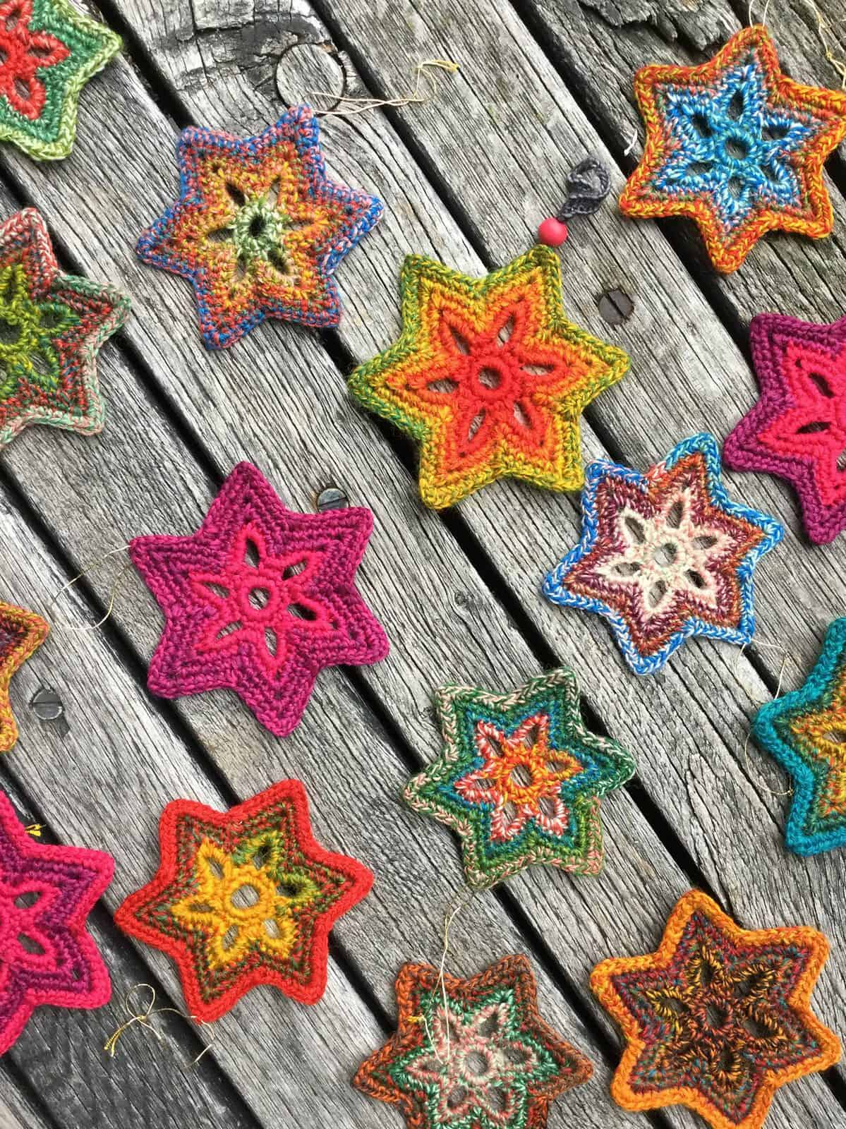 Crochet Star Garland Free Pattern