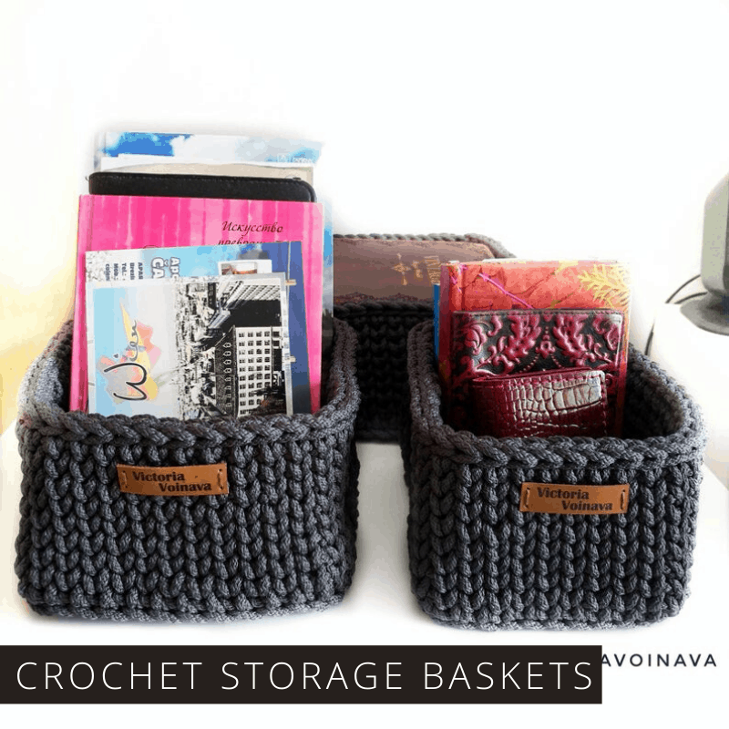 These Crochet Nested Storage Baskets are a Stylish Way to Get Organized | Premium Pattern