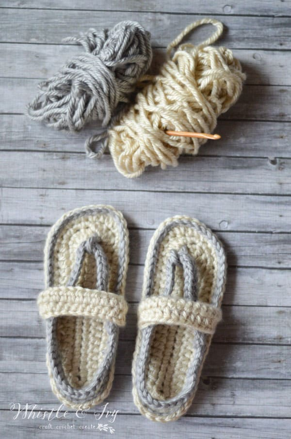 Crochet Summer Flip Flops for Women