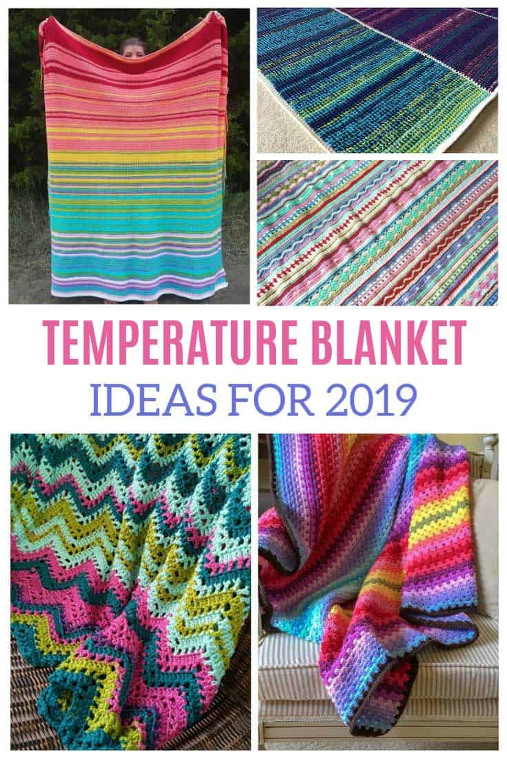 So many ideas and patterns for making a temperature blanket - or wrap - in 2019!