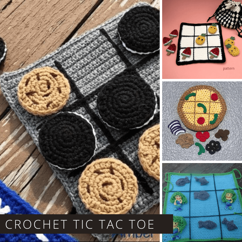 You can't beat a good old fashioned game of tic tac toe - and these crochet patterns will help you make a game that's tactile and fun for kids of all ages! Great birthday gift or stocking stuffer ideas!