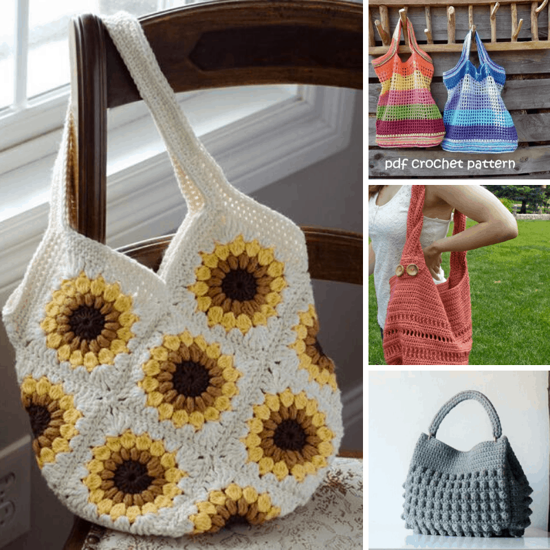 #standwithsmall and support an Etsy small business when you purchase one of these gorgeous tote bag crochet patterns