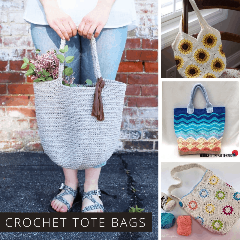 You can never have too many tote bags and these crochet projects are just what you need for carrying everything from library books to your farmer's market produce!