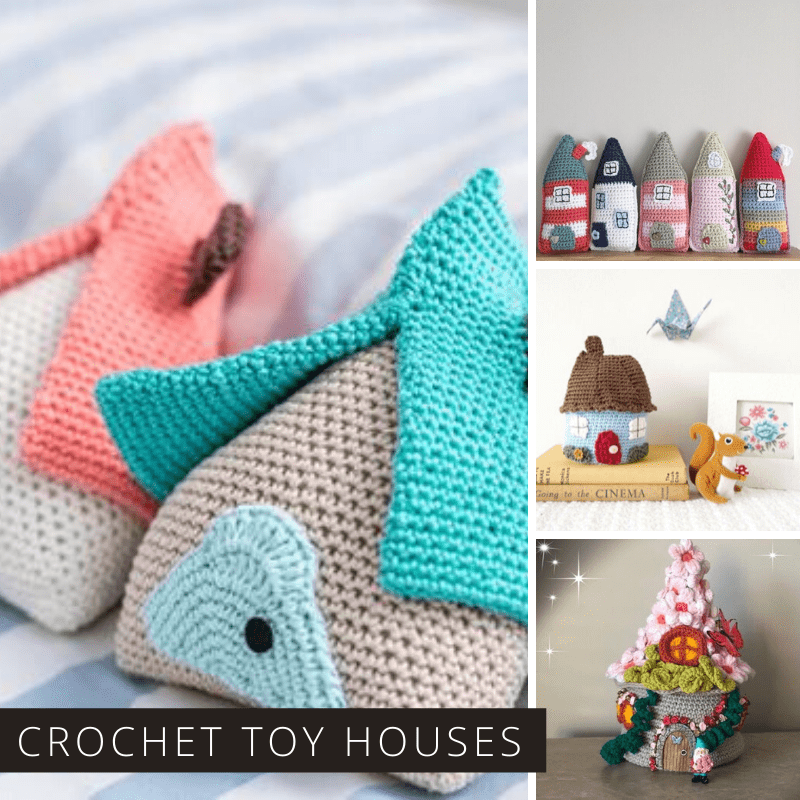 Oh how sweet are these little crochet toy houses! Hours of imaginative play to be had with these!