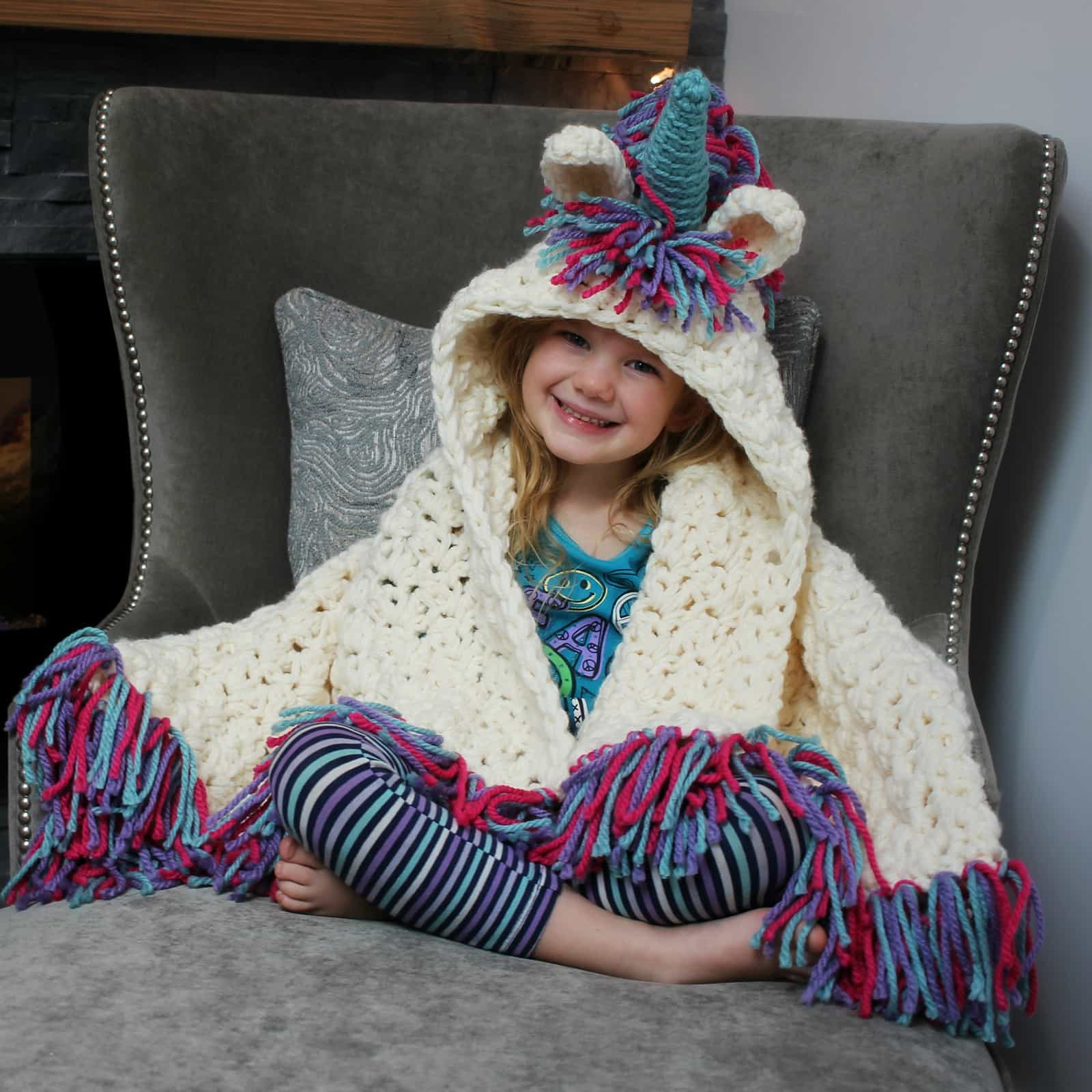 Crochet Unicorn Blanket