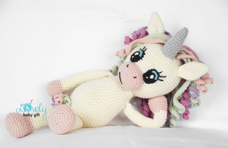 This sweet unicorn crochet pattern is available to download so you can make one for your child today!