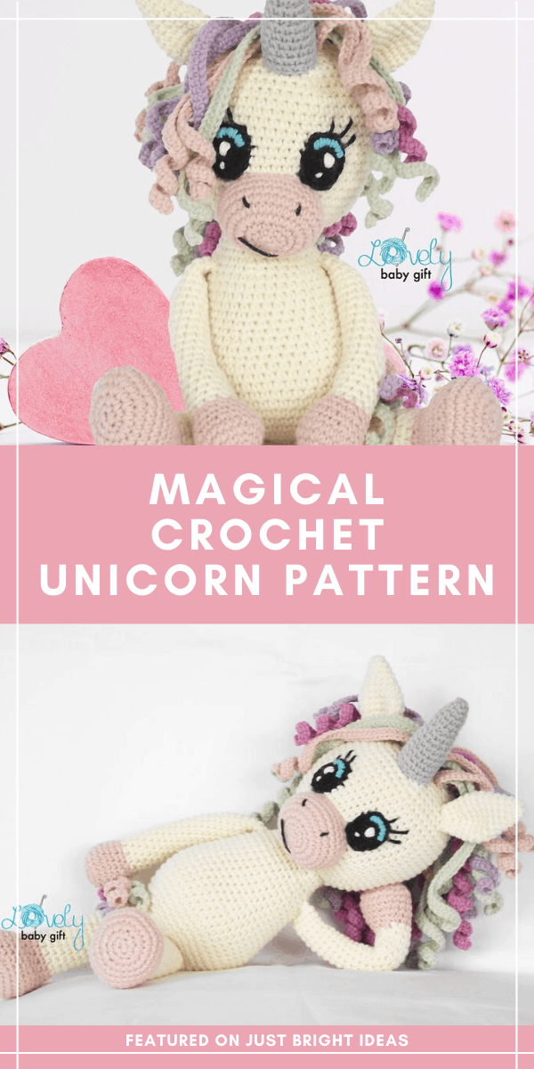 Don't miss this adorable crochet unicorn pattern with her rainbow curly mane! The amigurumi pattern is easy to follow with lots of photos to help you