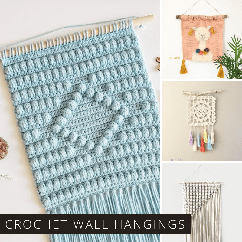 Wall hangings are so trendy right now and these crochet patterns are relaxing to make and perfect for bringing a pop of color of boho vibe to your blank walls