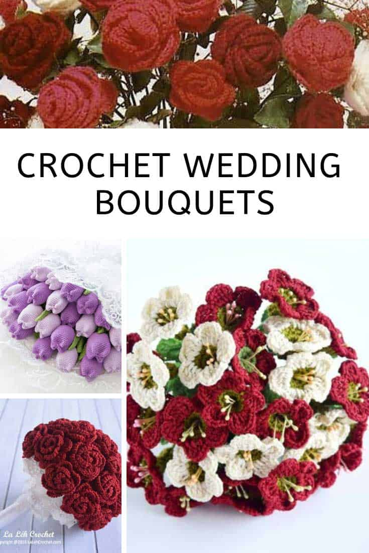 These crochet wedding bouquets are just STUNNING!