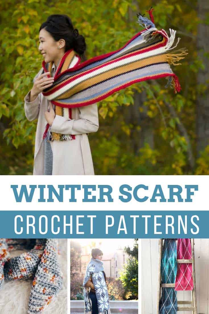 Ooh so many cute crochet winter scarf patterns I'm not sure which one to make first!