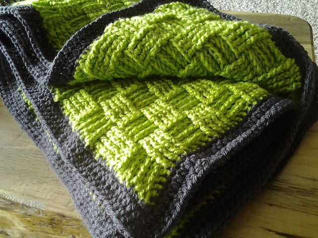 Crochet basketweave blanket pattern