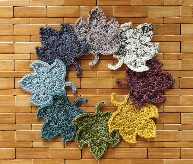 Crochet fall leaves