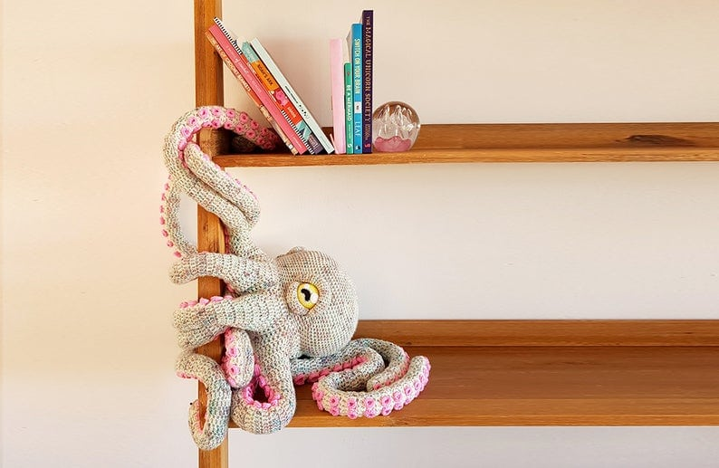 This octopus crochet pattern is easy to follow and the amigurumi toy is larger than life!