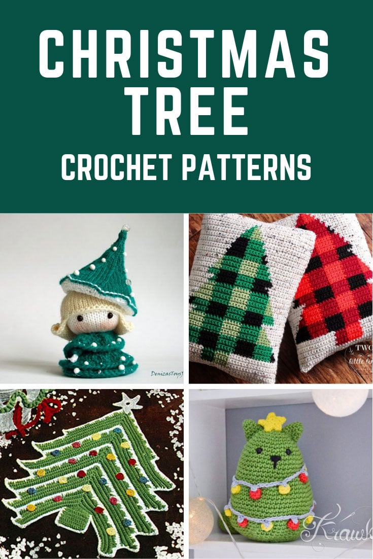 So many fabulous Christmas tree inspired crochet patterns for the Holiday season!