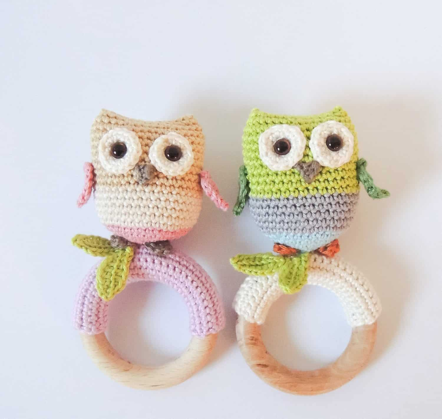 Amigurumi Owl Teething Ring