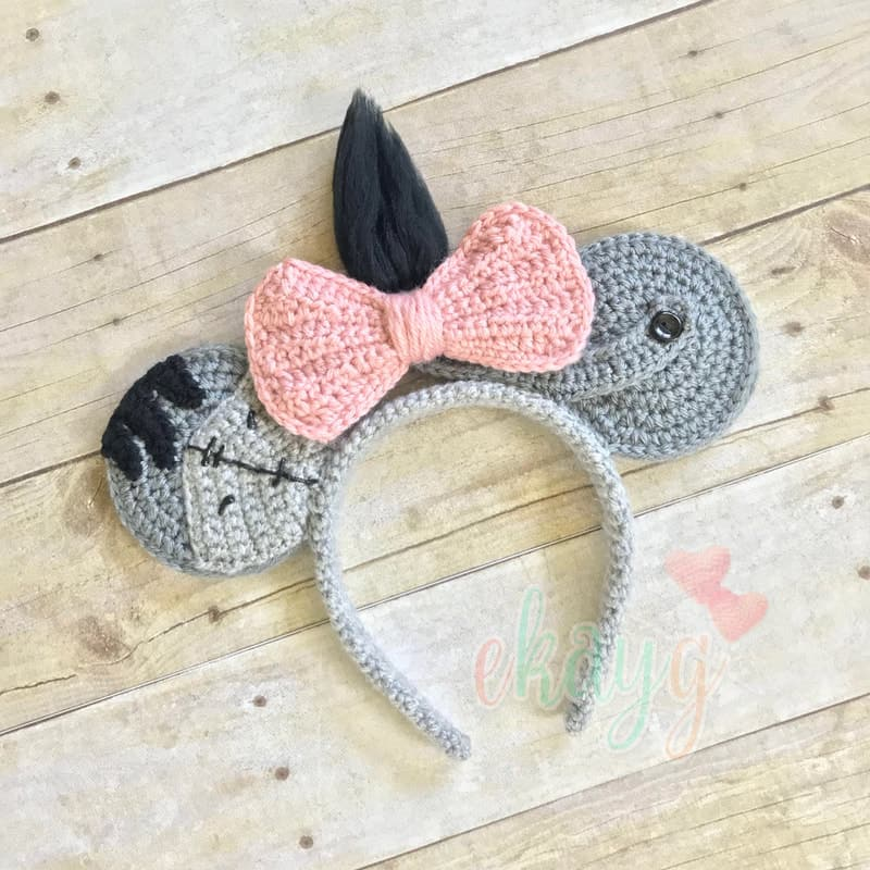 Crochet Eeyore Mickey Ears