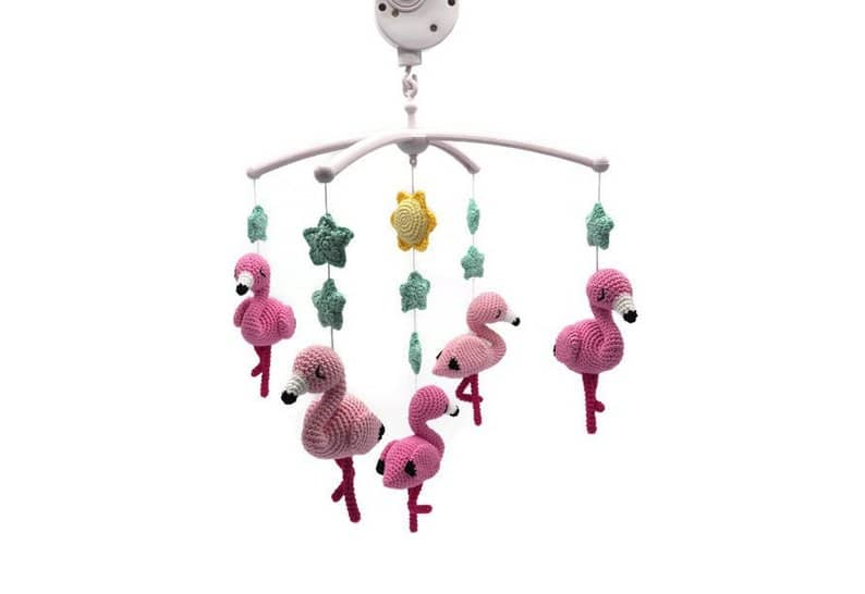 Baby Mobile Flamingos