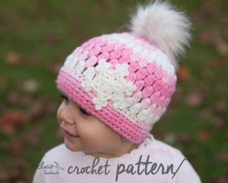 Crochet Snowflake Hat