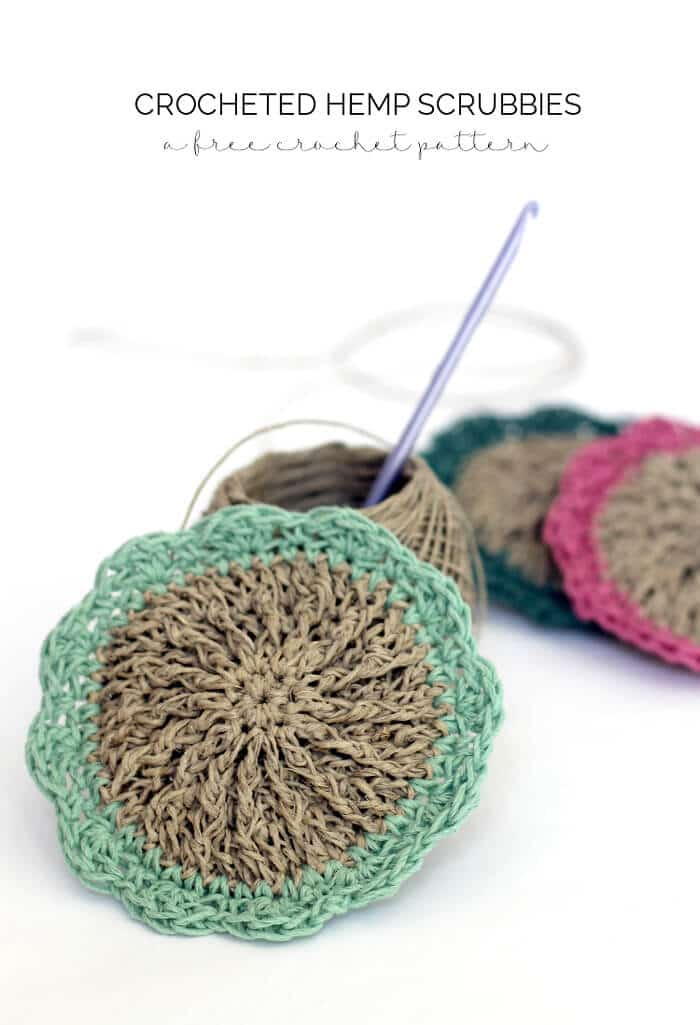Crocheted Hemp Scrubbies