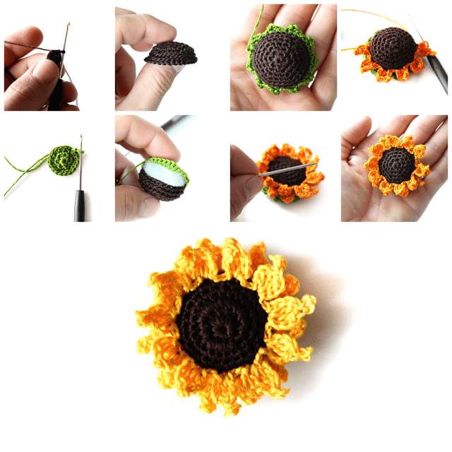 Crocheted Sunflowers