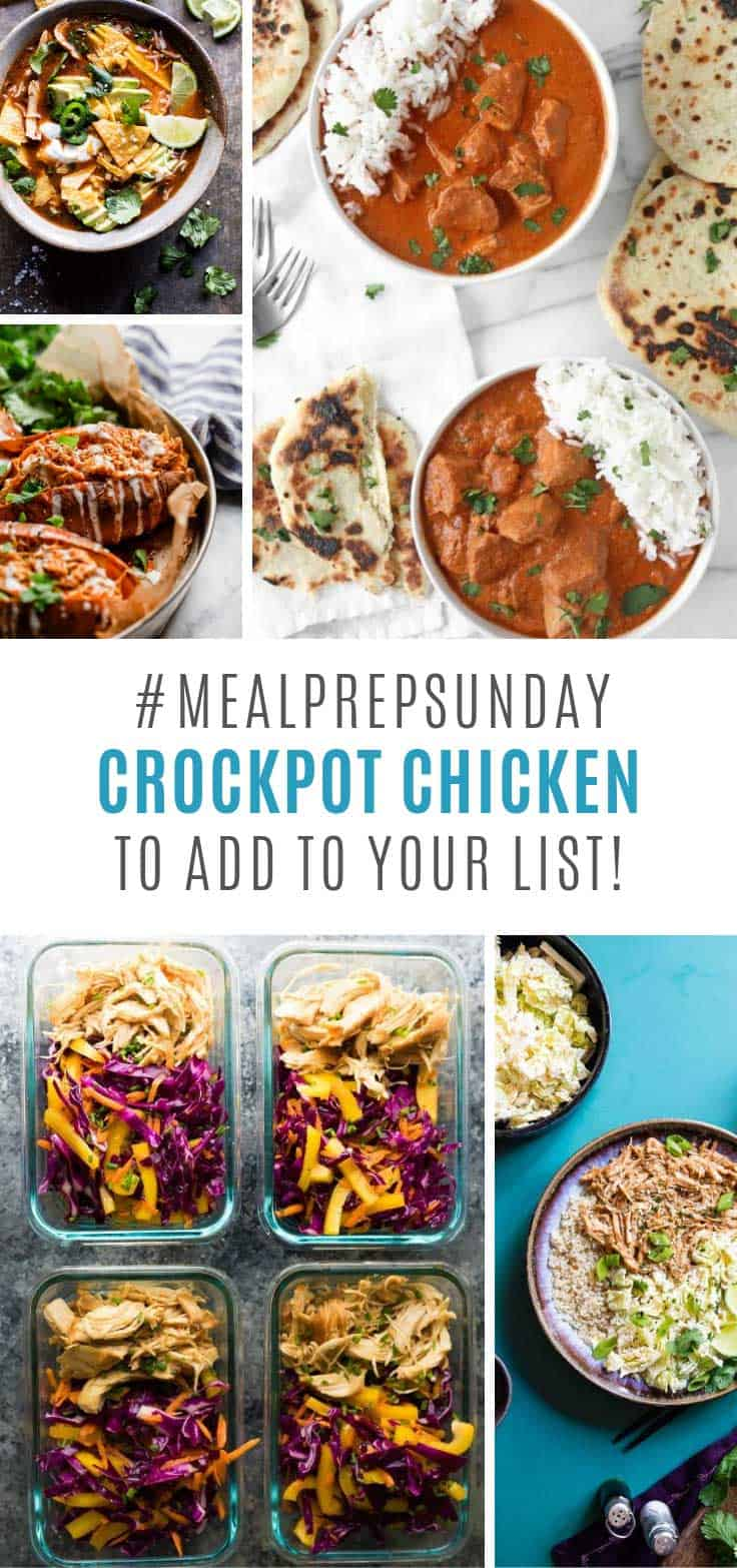 These crockpot meal prep chicken recipes are delicious!