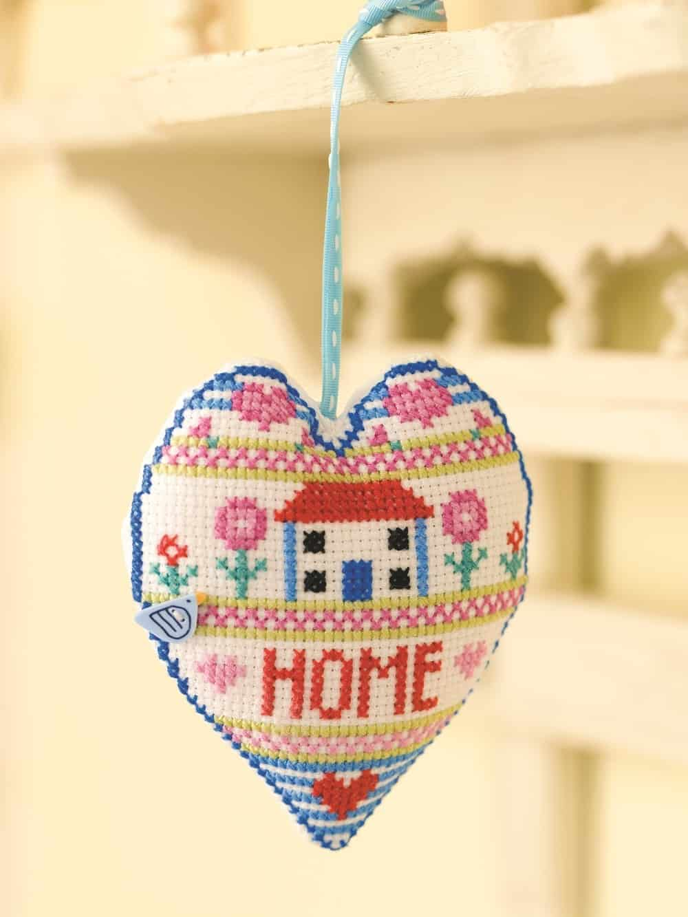 Cross Stitch heart sampler