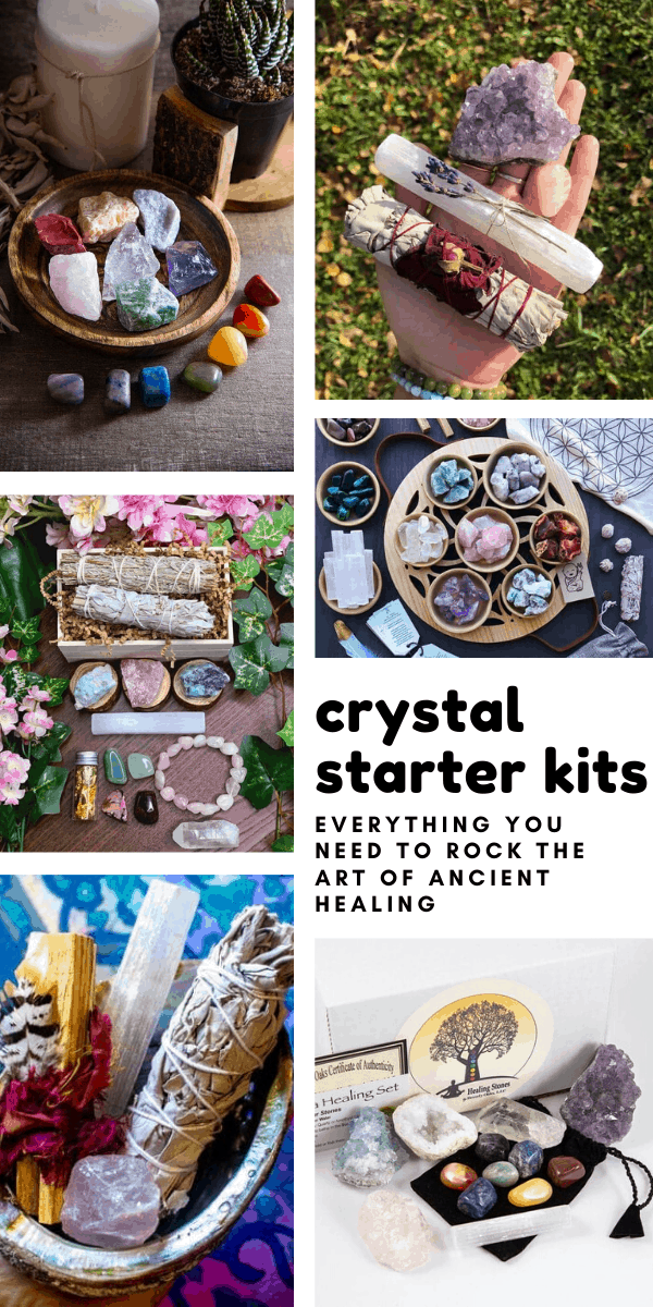 These crsytal starter kits have everything you need to rock the art of ancient healing