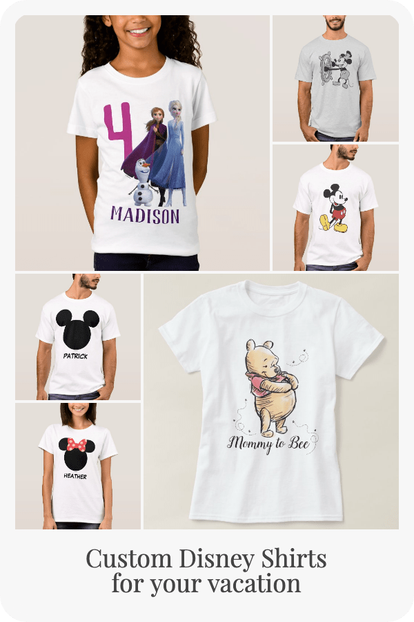 These official Disney shirts feature your favorite characters and are perfect for your Disney vacation