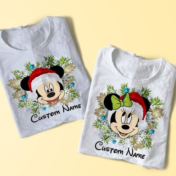 Custom Family Disney Christmas Shirts