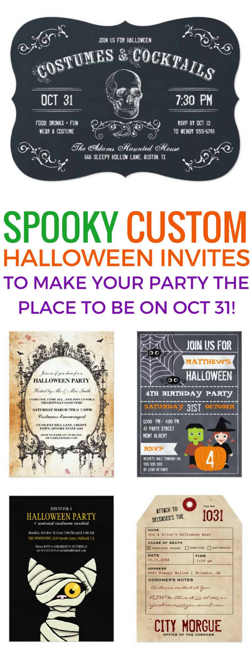 These custom Halloween invitations are just what I was looking for! Thanks for sharing!