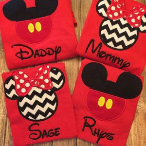 These custom matching Disney shirts for family vacations are adorable! Thanks for sharing!