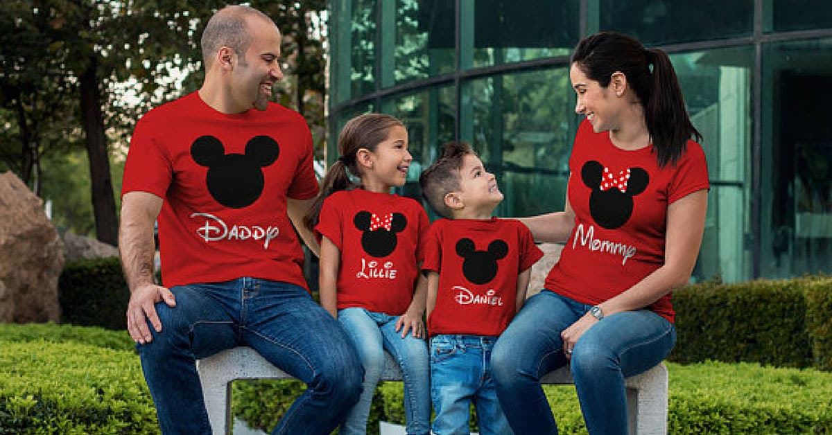 Stand Out Designs Shirts : Totally cute matching family disney shirts for your
