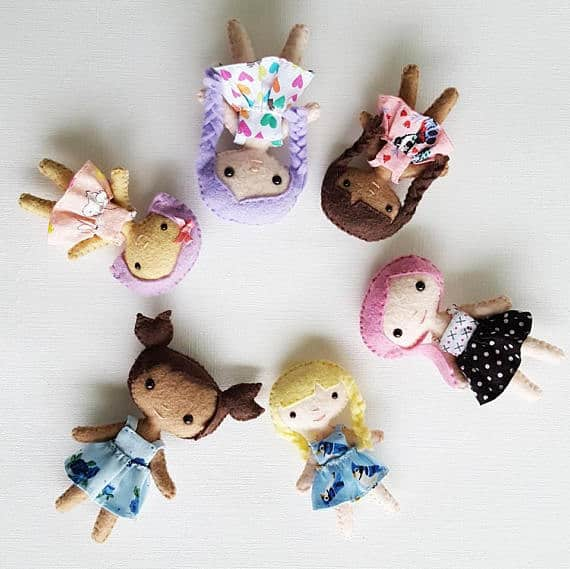 DIY Mini Felt Dolls