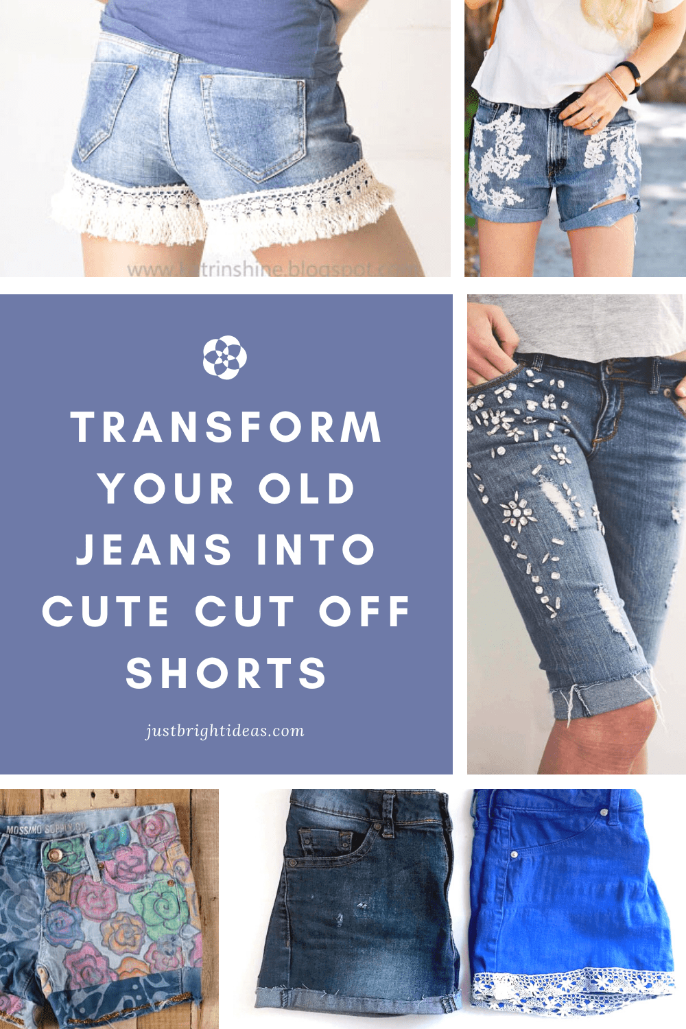 Don't throw those old worn out jeans away - it's time to upcycle them into cute cut off shorts! Check out all of the DIY ideas!