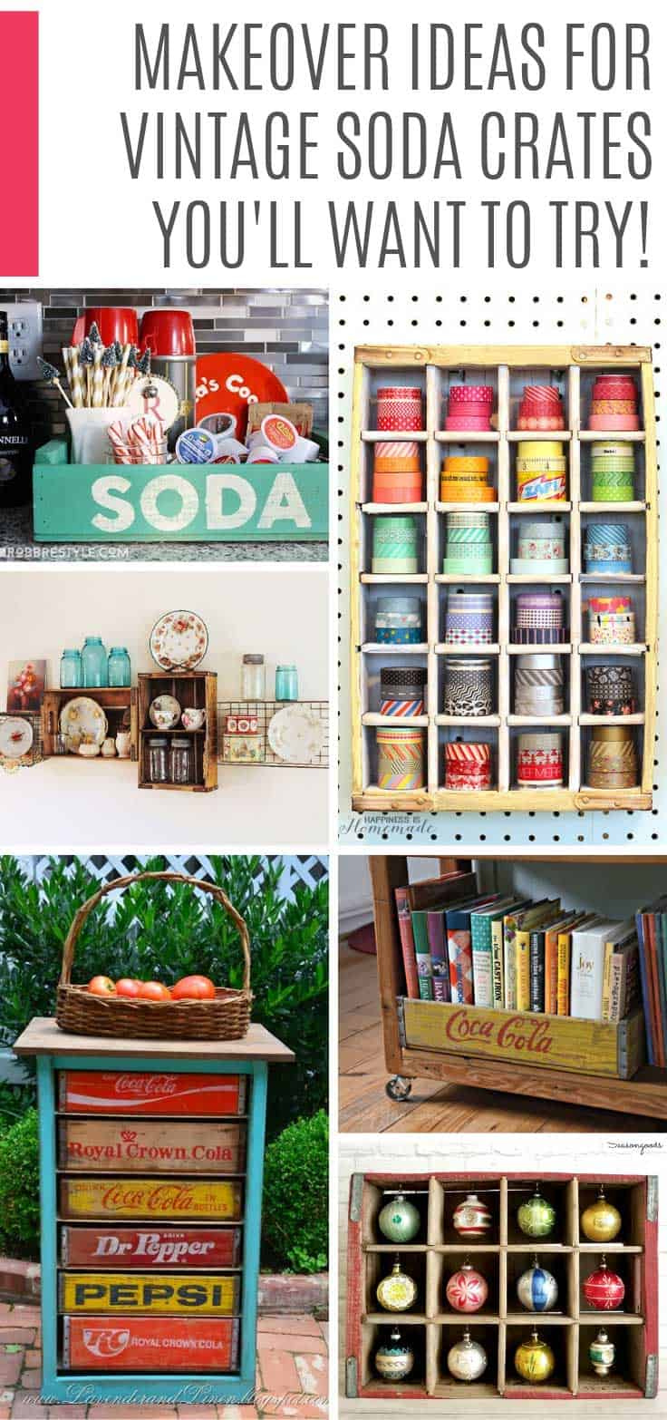Oh wow! So many cute ideas for repurposed soda crates I need to run to the flea market to pick up some for the weekend!