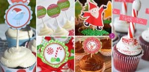 Christmas Cupcake Toppers to Make Your Cakes Look SUPER CUTE!