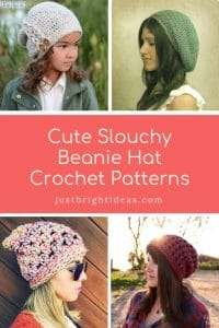 Cute Slouchy Hat Beanie Crochet Patterns