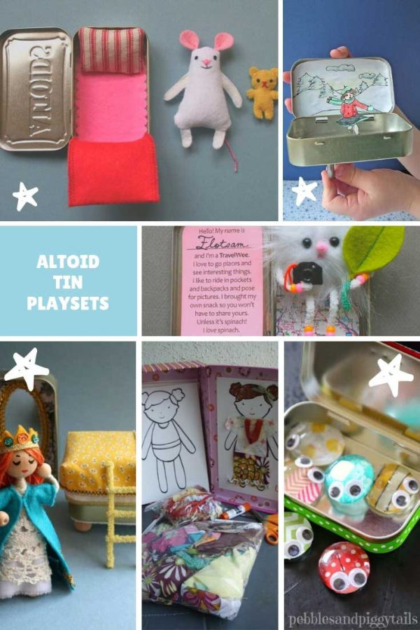 Oh my goodness how cute are these DIY Altoids tin playsets! Perfect for road trips and restaurants for sure!