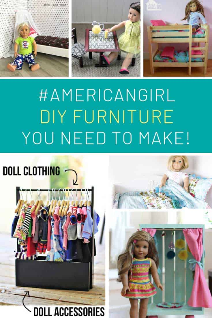 These DIY American Girl furniture projects will save me a ton of cash!