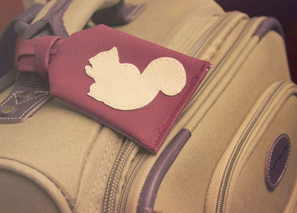 DIY Applique Luggage Tag