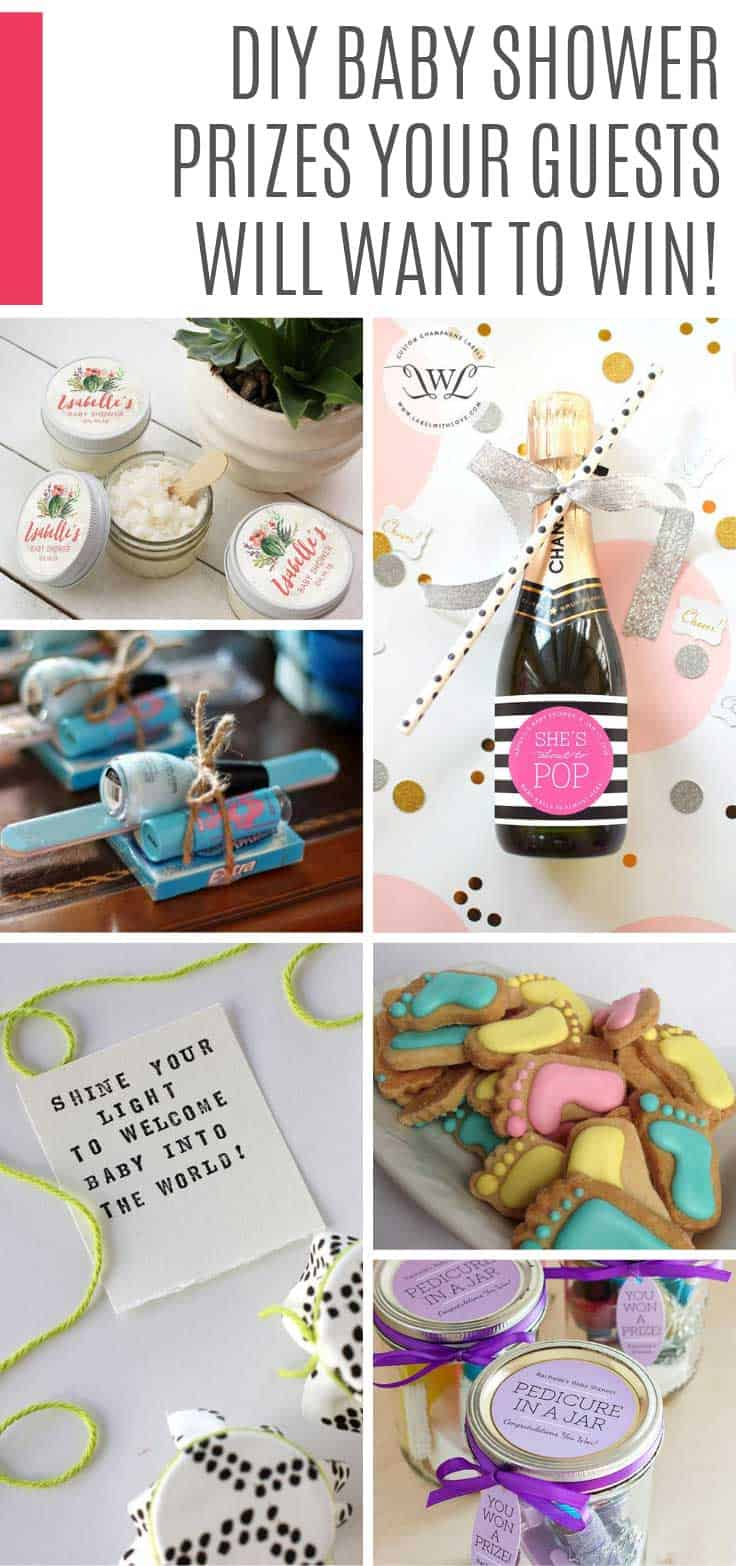 These DIY baby shower prizes are adorable and just what you need for your party games! #babyshower