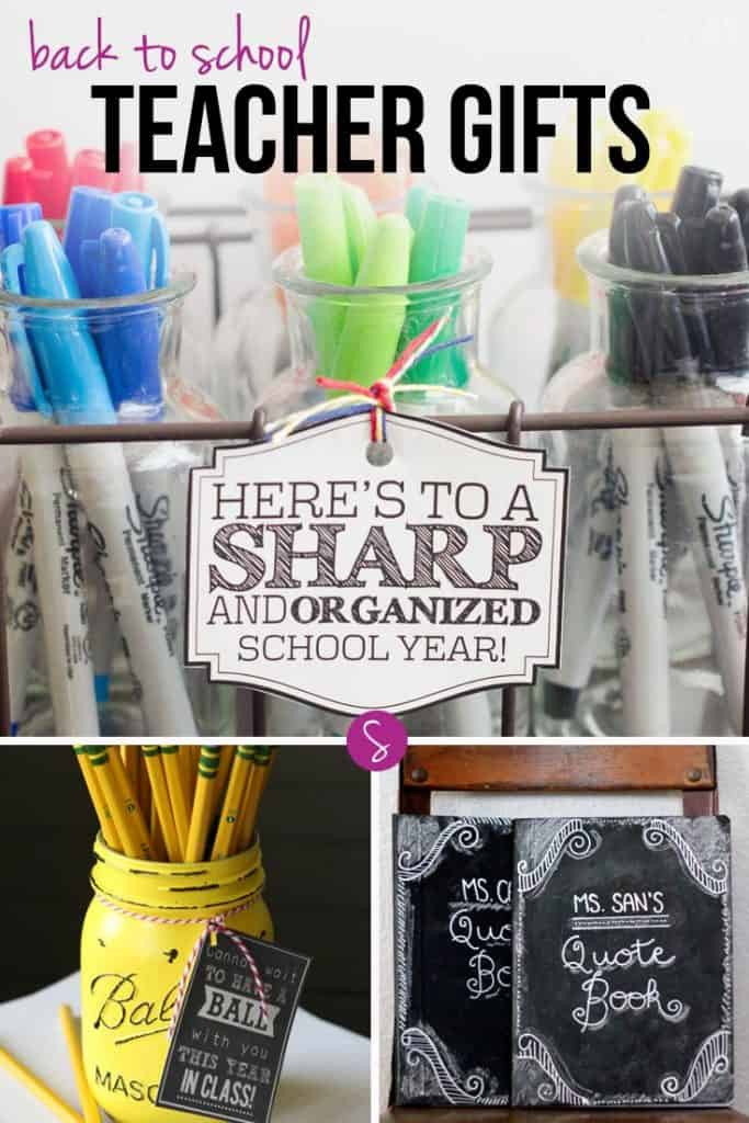 DIY Back to School Teacher Gifts