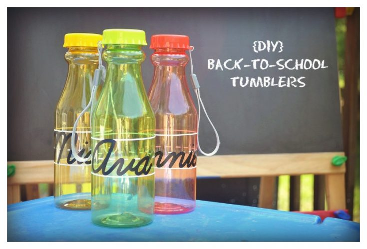 {DIY} Back To School Tumblers